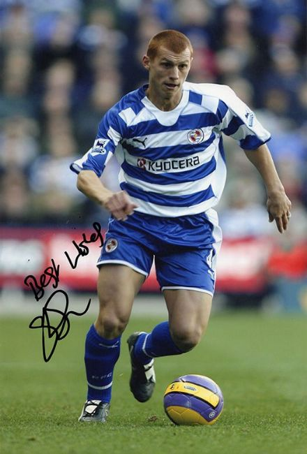 Steve Sidwell, Reading, signed 12x8 inch photo.